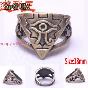 Yu-Gi-Oh-Millennium-eyes-3d-Ring-Brozen-Metal-Jewelry-Cosplay-Otaku-Men-Gift