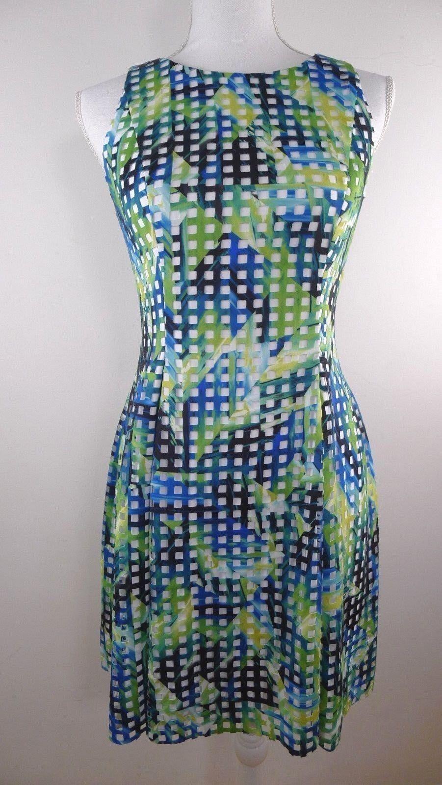 Adrianna Papell Woherren Multi-Farbe Dress, Größe 4