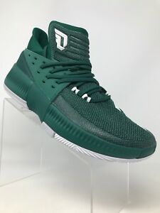 super popular 86b9d 1eca7 Image is loading Adidas-Dame-3-BY3194-Basketball-Shoes-Green-Men-