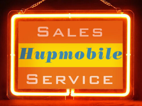 Hupmobile Service Hub Bar Display Advertising Neon Sign