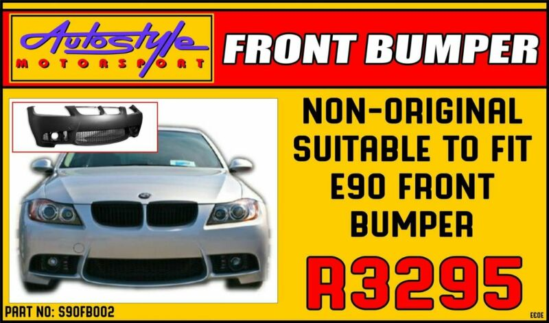 Non-Original Suitable to fit BMW E90 Plastic Front Bumper R3295 Other vehicle accessories also avail