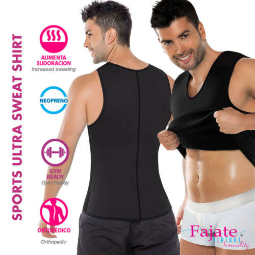 Homme Gym Shirt Colombiana para hombre Ultra Sweat Compression camiseta thermique