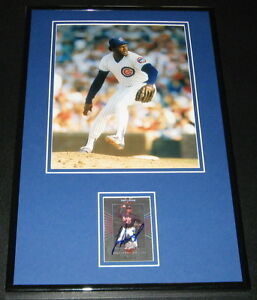 Lee-Smith-Signed-Framed-11x17-Photo-Display-Cubs