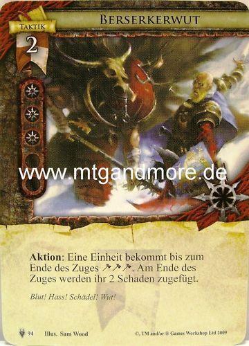 Warhammer Invasion 2x Berserkerwut  #094