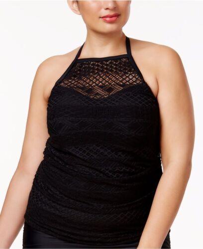 Island Escape Swimsuit Bikini Tankini Top Plus Sz 22W High Neck Rincon Crochet