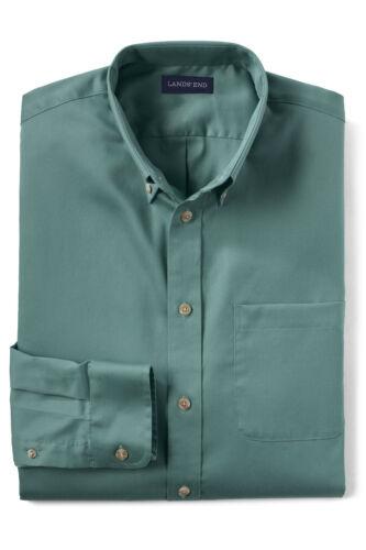 21 Land/'s End Men/'s Big Tall 5X Cotton Twill Teal Traditional Buttondown Shirt