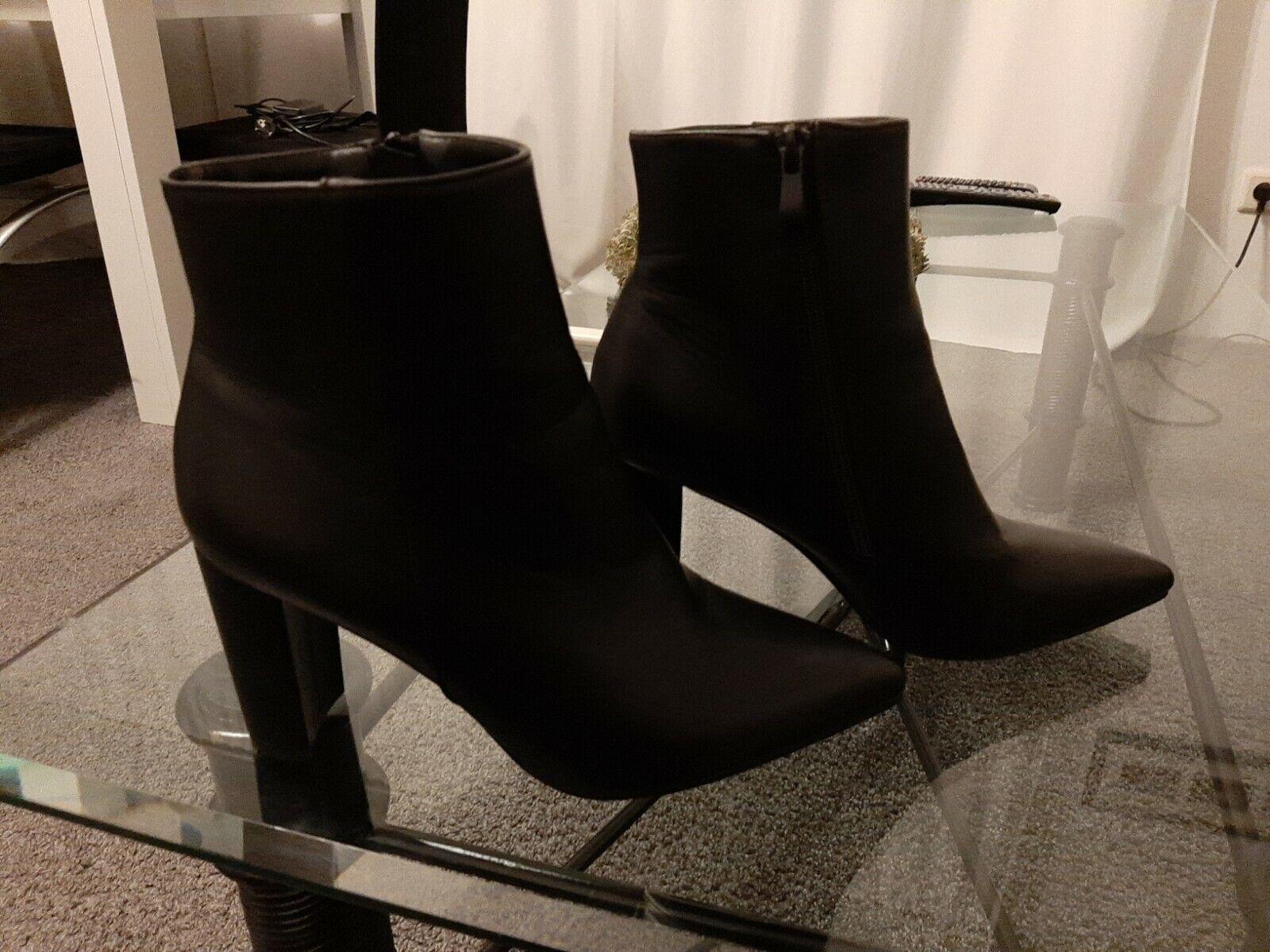 - señora botines, talla 41, negro, nuevo