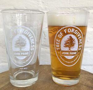 2 Pack Tree Of Forgiveness Pint Style Bar Glasses Official John Prine