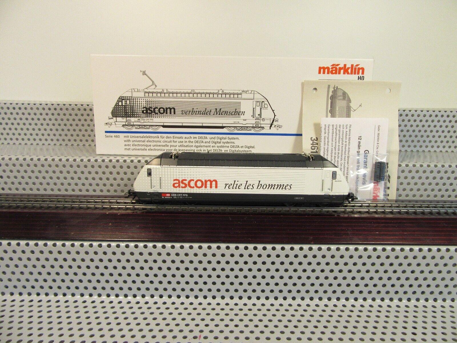34617 serie 460 033-4  Ascom  SBB e-Lok DELTA Digital inutilizzato in OVP