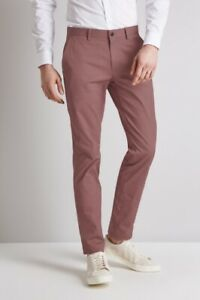 """Herrenmode Hell Ted Baker """"talisas"""" Purple Cotton Twill Chino Trousers Bnwt Uk 28 R Rrp £95.00"""