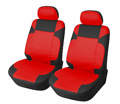 Leather Like 2 Front Car Seat Covers for Suzuki 153 Red