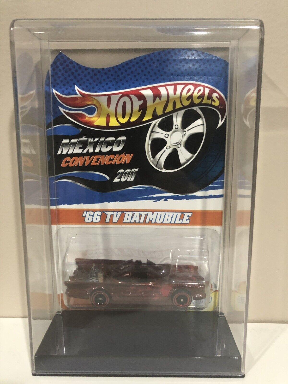 2011 RARE Hot Wheels Mexico Convention 1966 TV Series Batmobile 1 64 MOSC 38 50