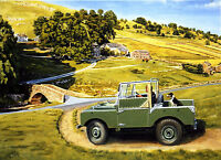 Nearly Home Landrover Beautiful Print Picture Painting Landscape Posters