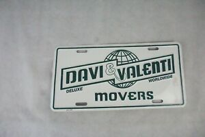 NOVELTY-LICENCE-PLATE-DAVE-AND-VALENTI-DELUXE-WORLDWIDE-MOVERS