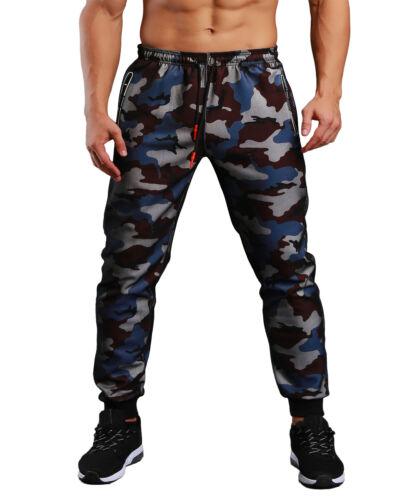TACVASEN Fashion Mens Zipper Pocket Taper Camo Jogger Running Pants Trousers Men
