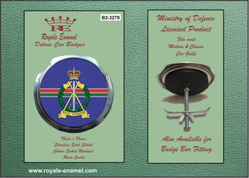 Royale Military Car Grill Badge /& Fittings ROYAL PIONEER CORPS B2.3279
