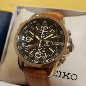 SEIKO-Prospex-Watch-Wristwatch-Field-Master-Chronograph-Solar-Quartz-F-S-M1227