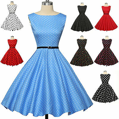 GRACE KARIN@ Vintage Style dress 50s Pinup DRESS Swing Tea Party Dress Housewife