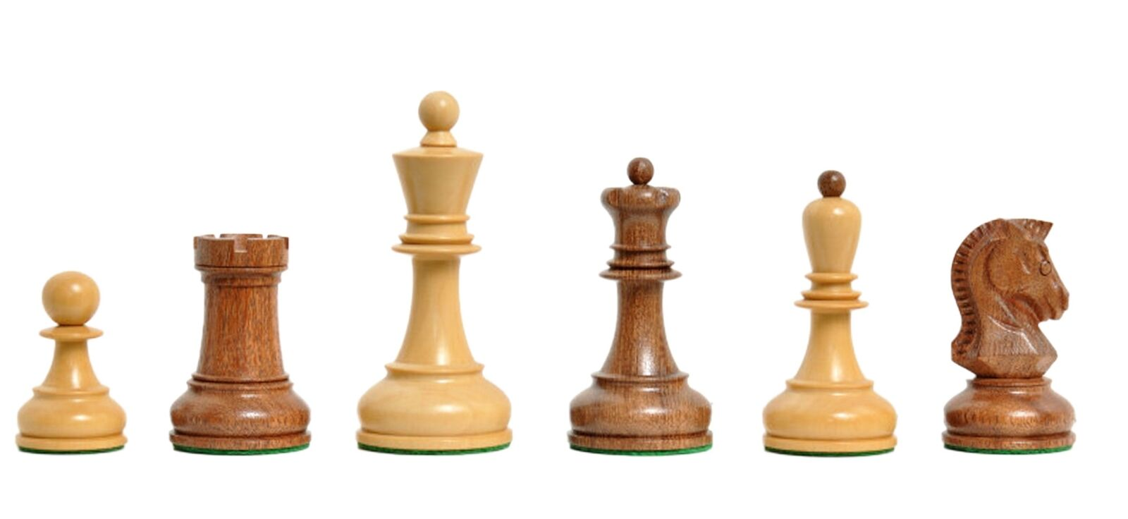 The Dubrovnik Chess Set - Pieces Only - 3.75  King - oroen rosawood