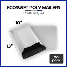20 10x13 Ecoswift Poly Mailers Plastic Envelopes Shipping Mailing Bags 17mil