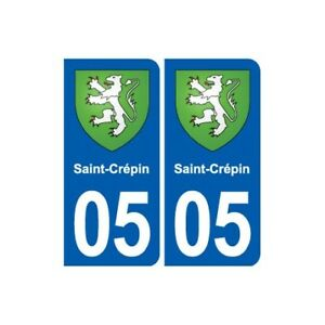 05 Saint-crépin Blason Ville Autocollant Plaque Stickers - Angles : Arrondis