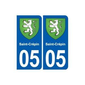 05 Saint-crépin Blason Ville Autocollant Plaque Stickers - Angles : Arrondis