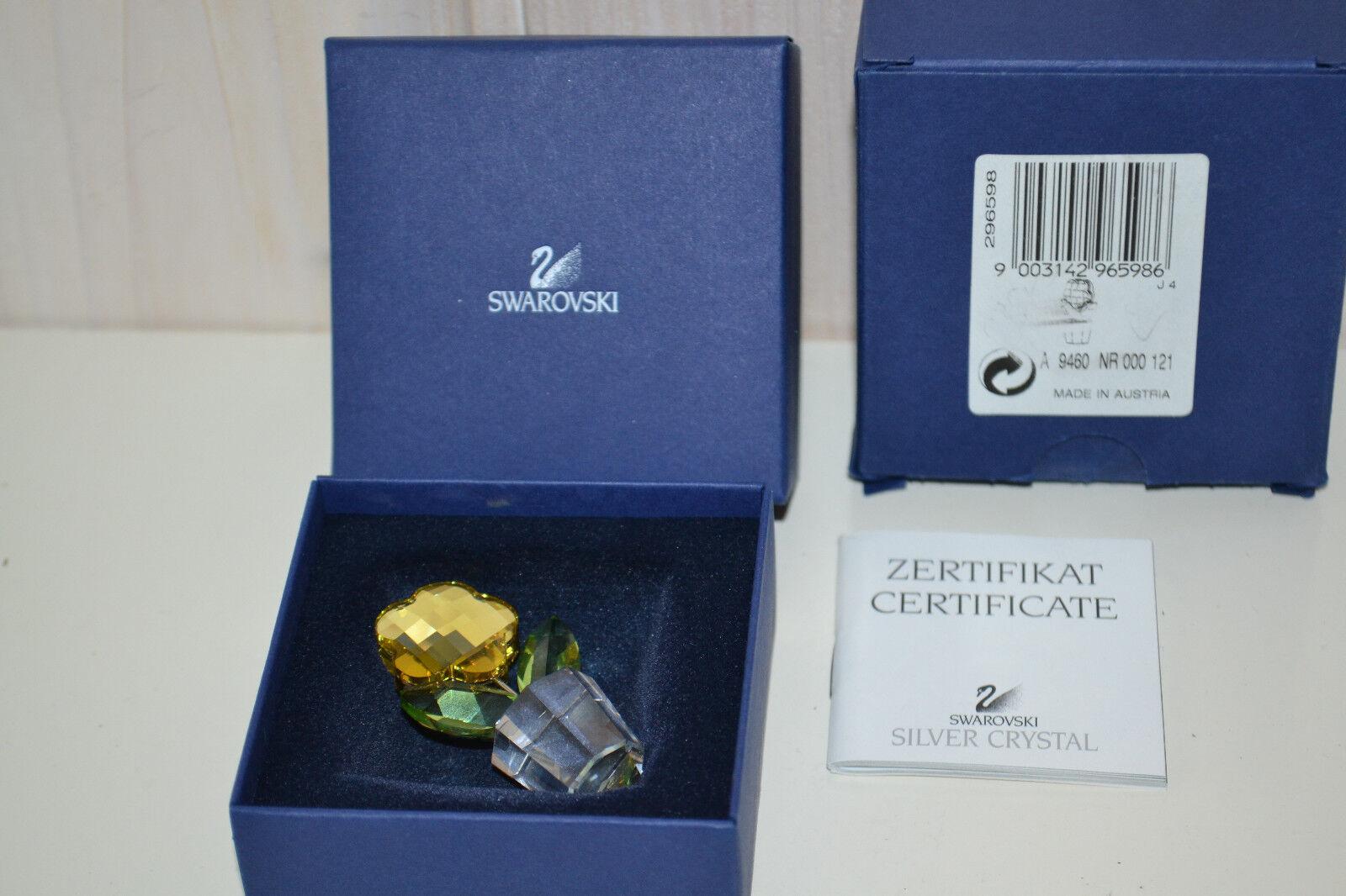 Original-Swarovski-cristal verre crystal-personnage-Pot de fleurs Blümen-Pittoresque-OV. & excludecaname.