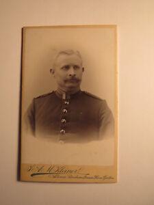 Altona-âgées soldat ou fonctionnaire avec Bart en Uniforme-portrait-CDV-afficher le titre d`origine