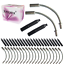 Liner V Brake Noodle Cable Guide Pipe Rubber Boot Bicycle Cycling Set 20 Pieces