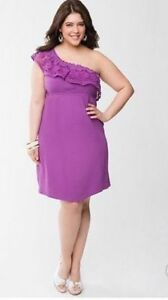 Lane-Bryant-crochet-purple-one-shoulder-dress-plus-size-26-28