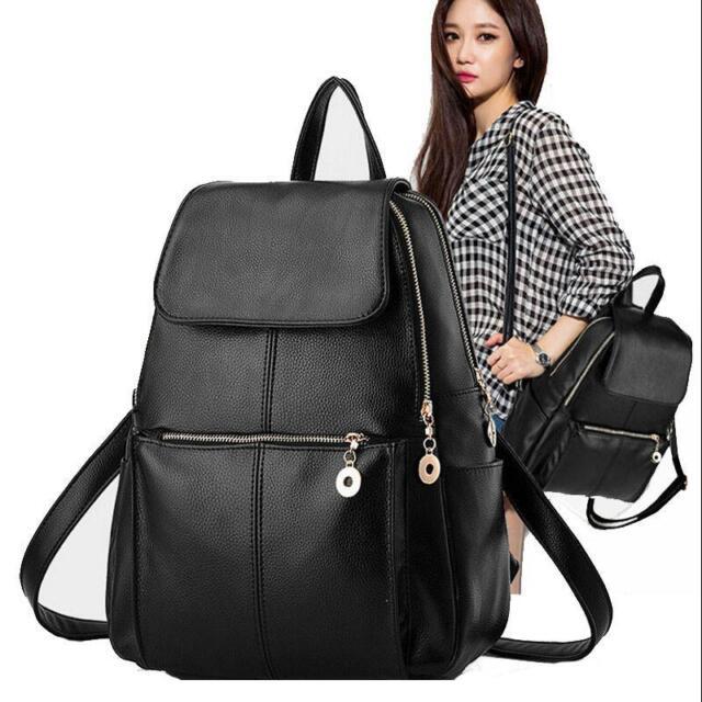 Fashion Women Girls Ladies Backpack Travel Shoulder Bag Rucksack PU Leather Bags