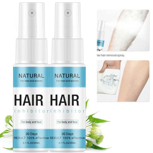 2 X Ultra Hair Away Hair Removal Spray 120ml Hair Inhibitor Sent