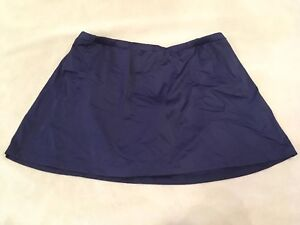 St Johns Bay Swimsuit Swim Skirt Bottom Solid Navy Blue Modest Plus Size
