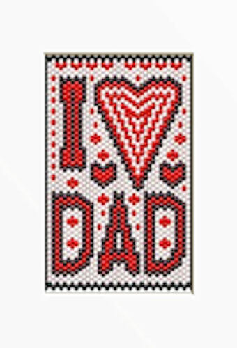 I LOVE DAD BEADED BANNER PDF PATTERN ONLY