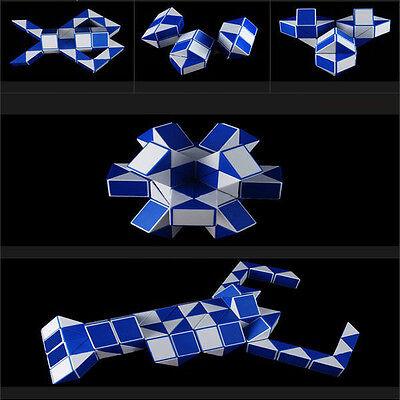 Magic Ruler Cube Twist Folding Snake Puzzle Kid Educational Toy 48 Square Block