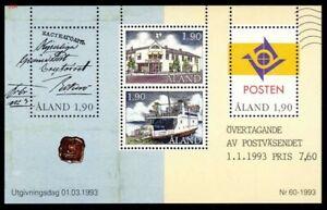 Aland, 1993 Service Postal Miniature Feuille Neuf Sans Charnière