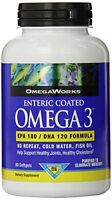 2 Pack Omega Works Omega 3 Enteric Coated 300mg 90 Count Each on sale