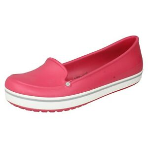 new product b3ddd e18c7 Details about SALE £7.99 CROCS LADIES CROCBAND SLIP ON MOCCASIN FLAT SUMMER  LOAFERS SHOES