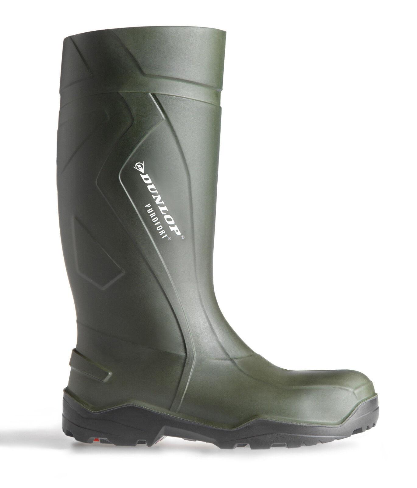 Dunlop Purofort Full Safety Thermo -20c Grün Mens Mens Mens Work Wellington Stiefel UK3-14 5e9f82