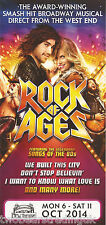 Event Promo Flyer: Rock Of Ages (New Theatre, Cardiff, 2014)