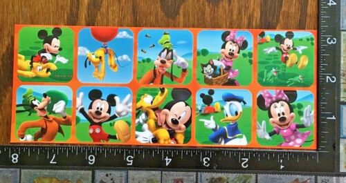 ONE SHEET BEAUTIFUL STICKERS #MOUSE5 MICKEY MOUSE MINNIE MOUSE AND FRIENDS