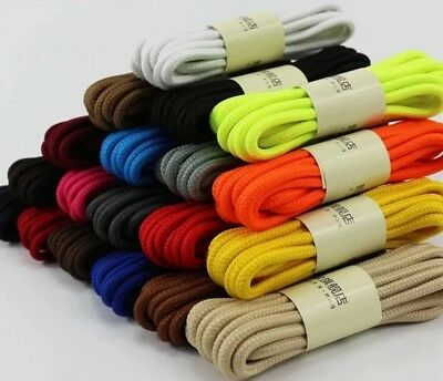 Round Athletic Sport Hiking Work Boots Sneaker Shoe String Shoelace 20 Colors