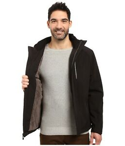 0f7ecd4c240 Calvin Klein men s Hooded Laminated soft shell Winter jacket Faux ...