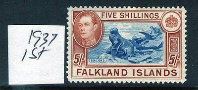 Geprüft Cat Neueste Mode WunderschöNen Falkland Inseln George Vi 5 37 Ptg Sg161 L Mit Scharnier