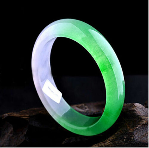 Fine Chinois Vert Naturel Bleu Bracelet Jonc Jade fait main