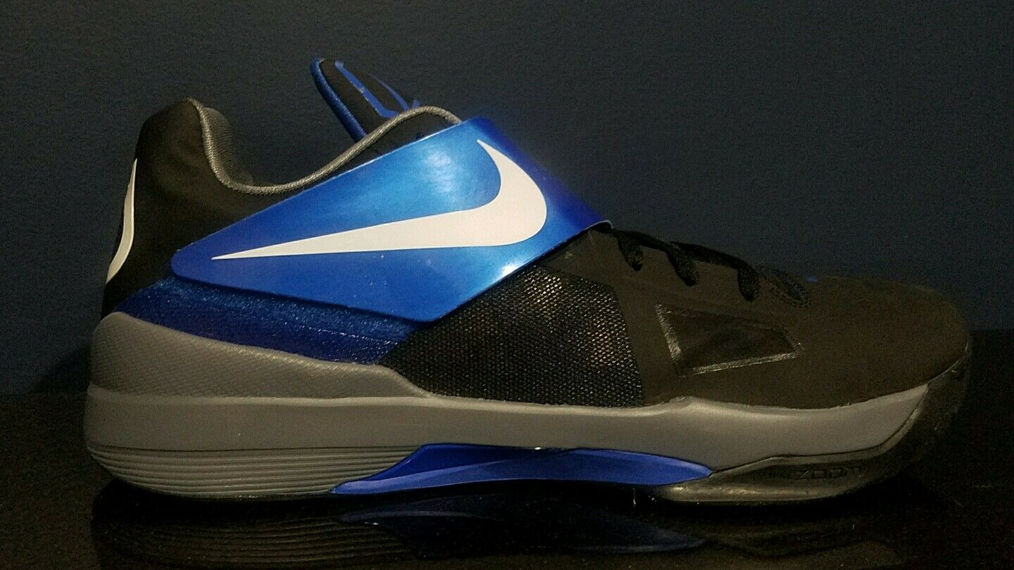 Uomo Nike Zoom KD IV Nero/Blue Basketball Shoes 473679006 Size 18 New