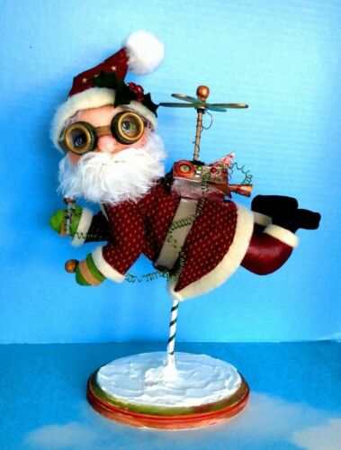 "*NEW* Cloth Folk Art Doll Pattern /""Jet Pack Santa/"" By Susan Barmore"