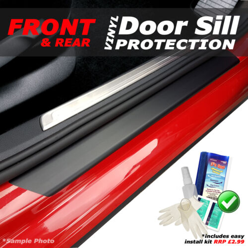 KIT! Peugeot 308 HB 2007-2013 4PC Matt Black Vinyl Door Sill Protectors