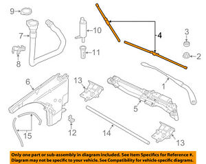BMW OEM 13-15 X1 Wiper Arm-Front Blade 61612158219