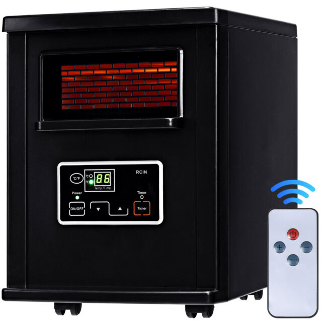 Costway Electric Portable Infrared Space Heater 1500 W Black